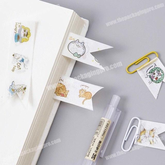 New style cute cats custom waterproof washi paper tape for decoration