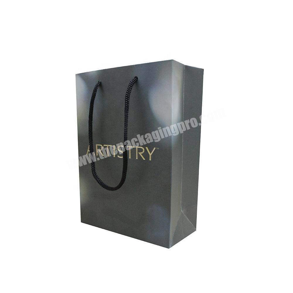 new style high quality luxury best quality black paper shopping bag