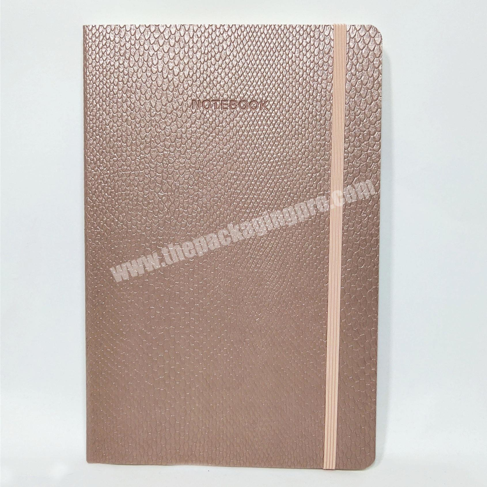 Nice quality happiness diary pu cover diary eco friendly notebook planner