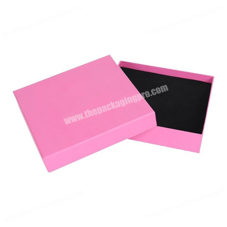 Non bendable Rigid Cardboard Custom Logo Printing Lift Off Square  Gift Box Packaging