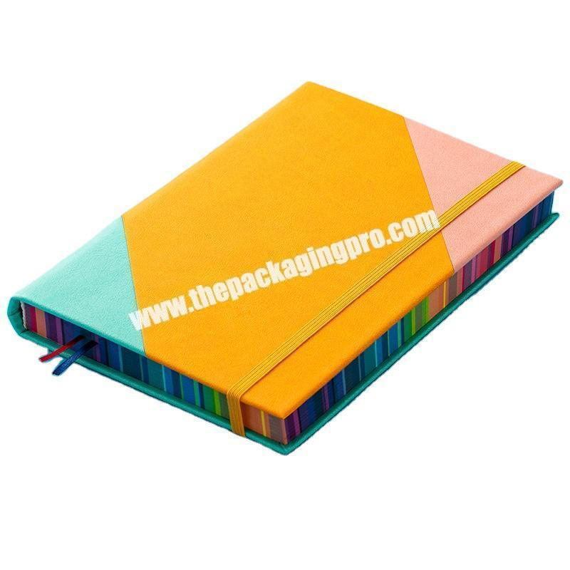 Custom ODM OEM Unique Leather Journal Planner Customized Logo Embossed Debossed UV Printing Notebook With Colored Painted Colorful Edge