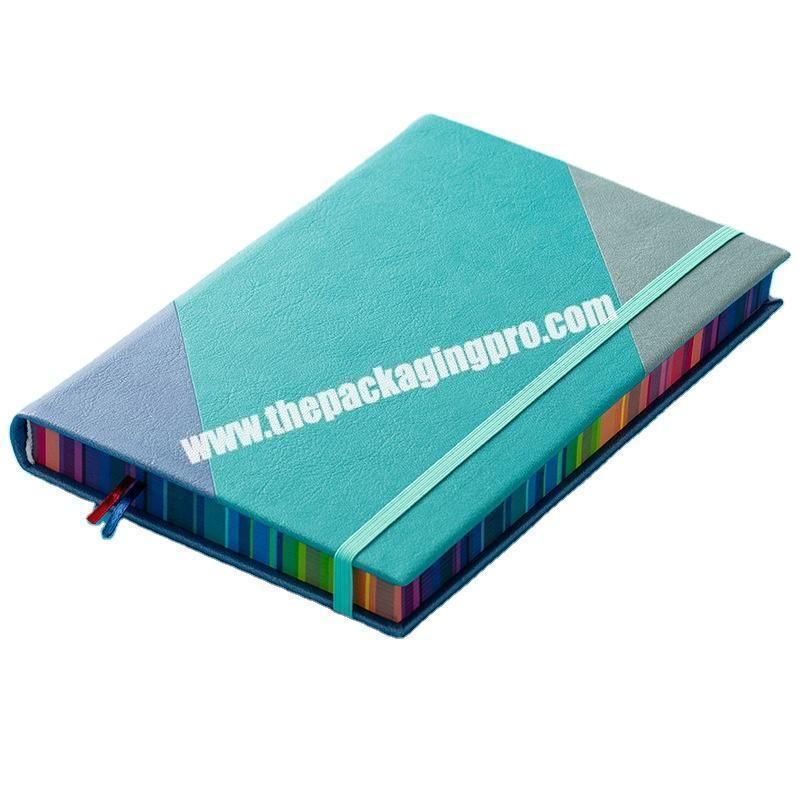 Shop ODM OEM Unique Leather Journal Planner Customized Logo Embossed Debossed UV Printing Notebook With Colored Painted Colorful Edge