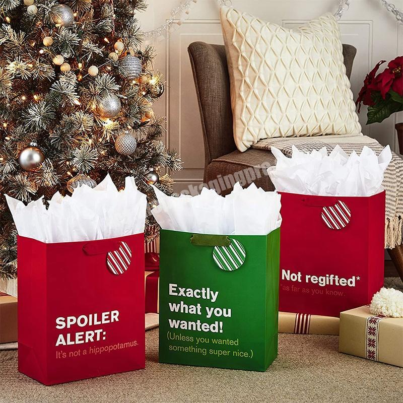 OEM Accepted Personalized Luxury christmas Gift Paper Bag