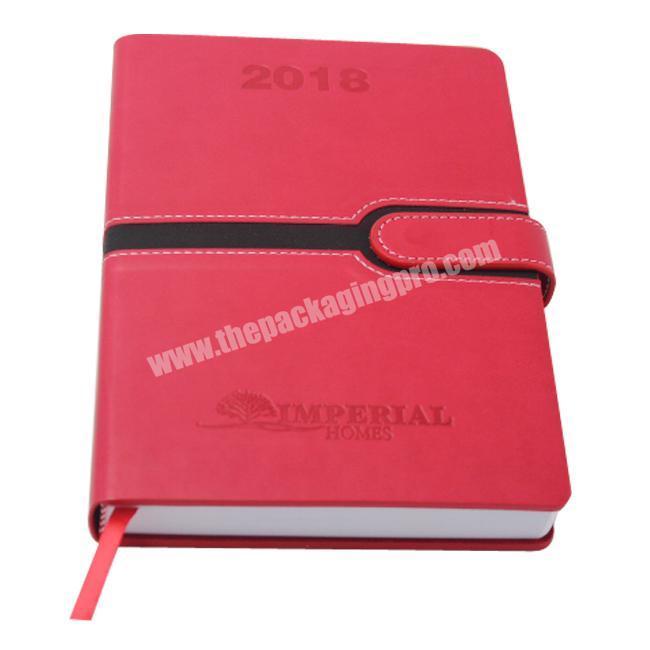 OEM Custom NotebookAgendaPlanner Printing Debossed Logo Meeting Agenda with Gold Edge