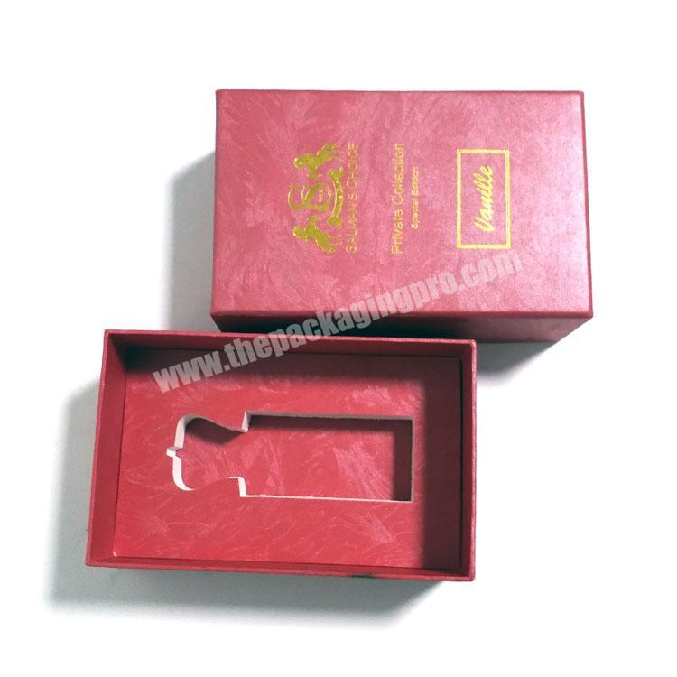 OEM empty paper perfume packaging box, cardboard box with foam inserts for perfume