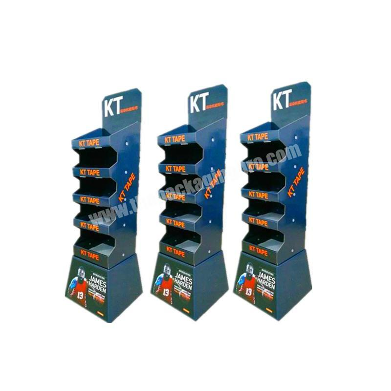 Oem factory price foldable counter display box hooks