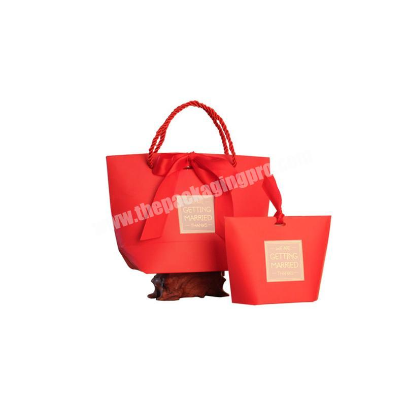 OEM Logo picture Printing Eco Paper Gift Bag forwedding use in Competitive price shopping bags