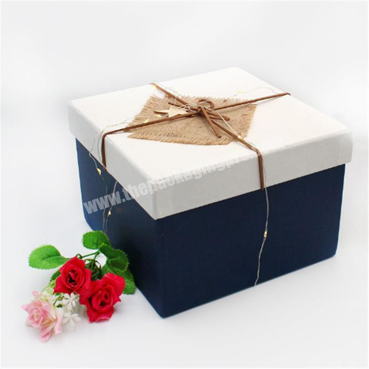 packing box plywood gift box with slide lid gift boxes