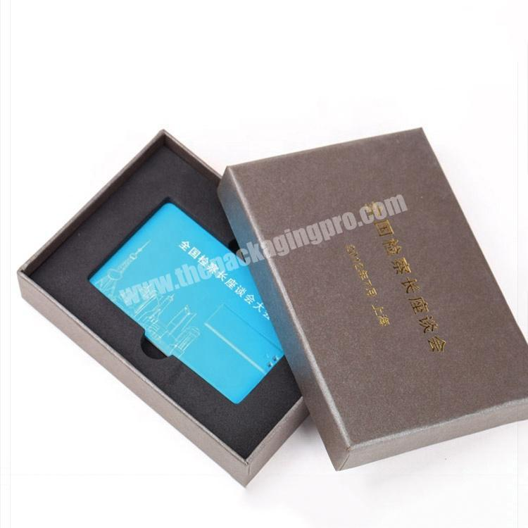 paper boxes with tray holder for gift card packaging  VIP card packaging with EVA insert tray