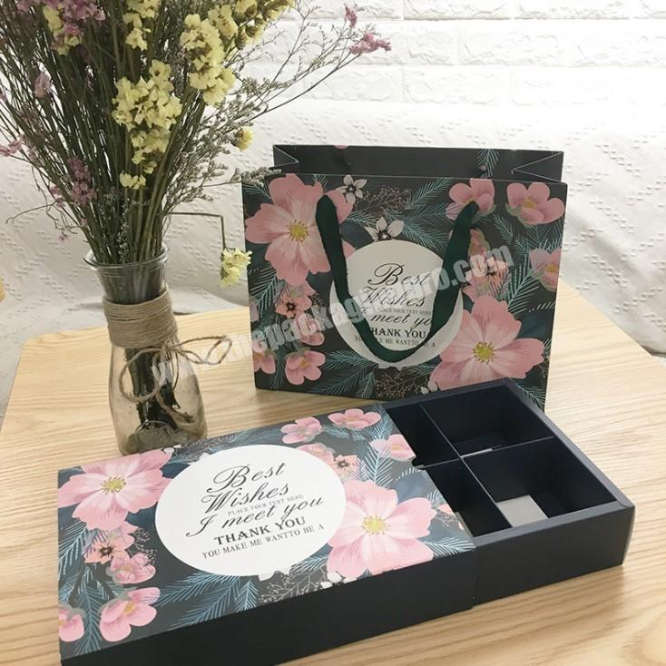 paper cardboard mooncake box and bag custom Logo packaging box