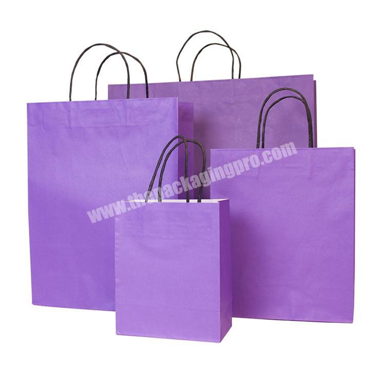 Paper Package Manufacturer recycled brown gold silver brand paper bags with your own logo