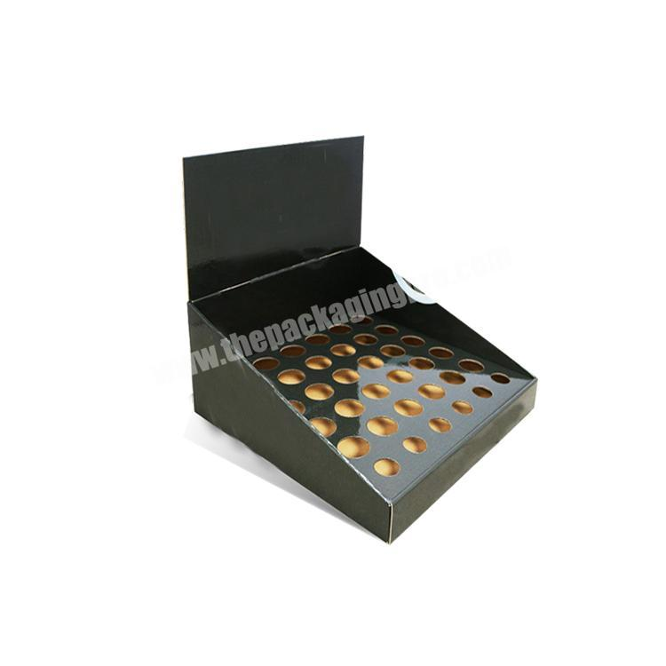 paperboard counter display rack cardboard display table collapsable corrugated box