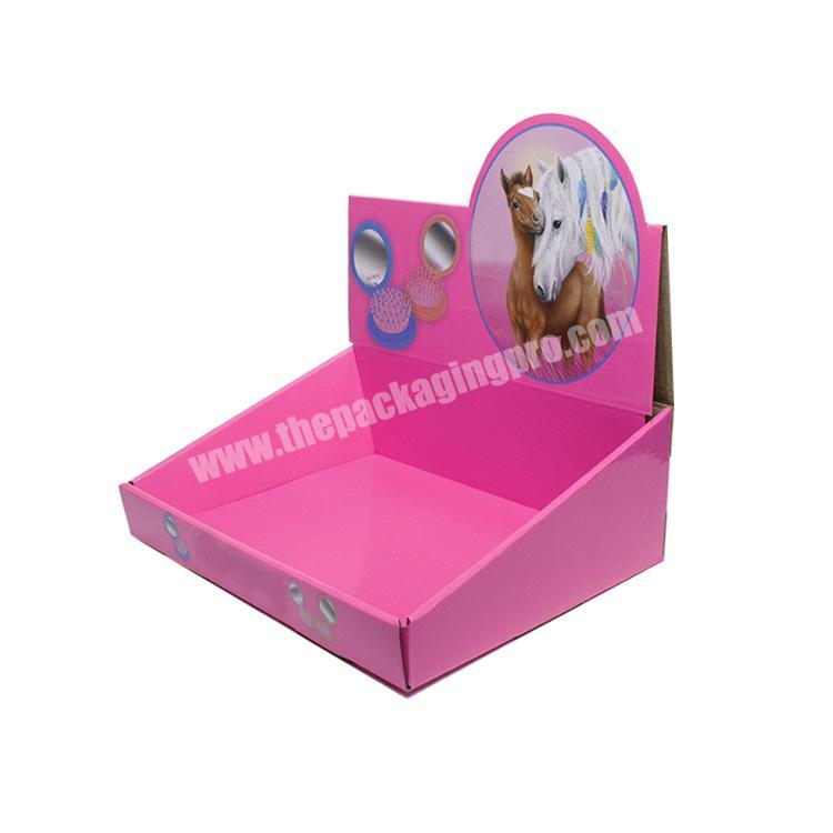 Custom paperboard retail displays collapsable corrugated box counter display boxes cardboard