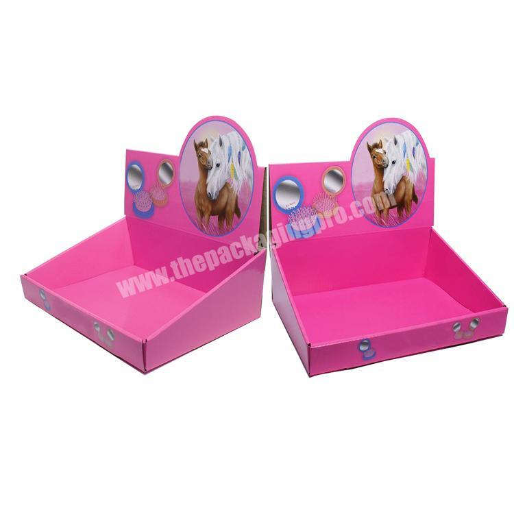 Shop paperboard retail displays collapsable corrugated box counter display boxes cardboard