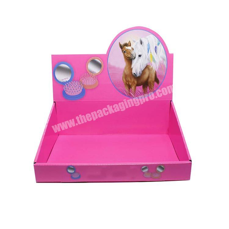Wholesale paperboard retail displays collapsable corrugated box counter display boxes cardboard