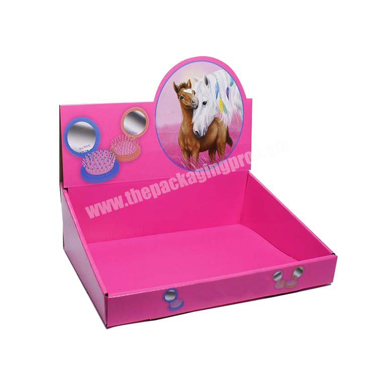 Manufacturer paperboard retail displays collapsable corrugated box counter display boxes cardboard