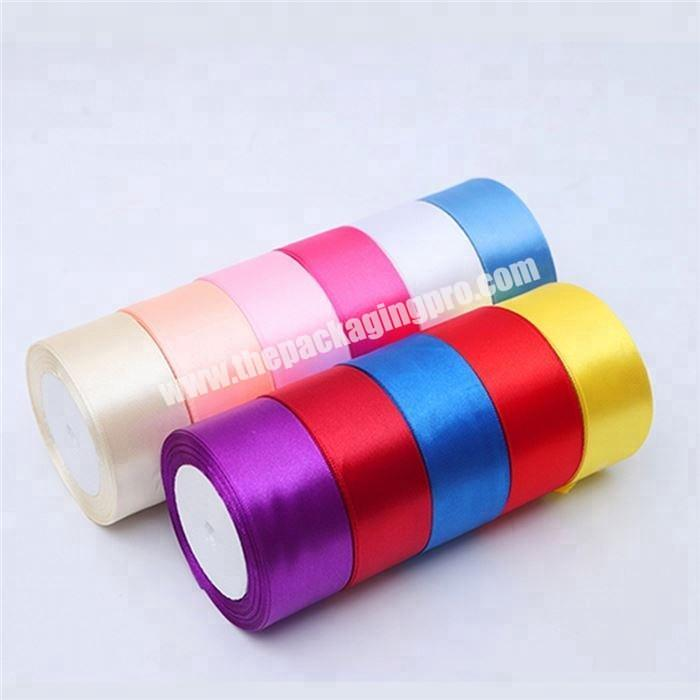 Personalized 100%  polyester colorful satin ribbon