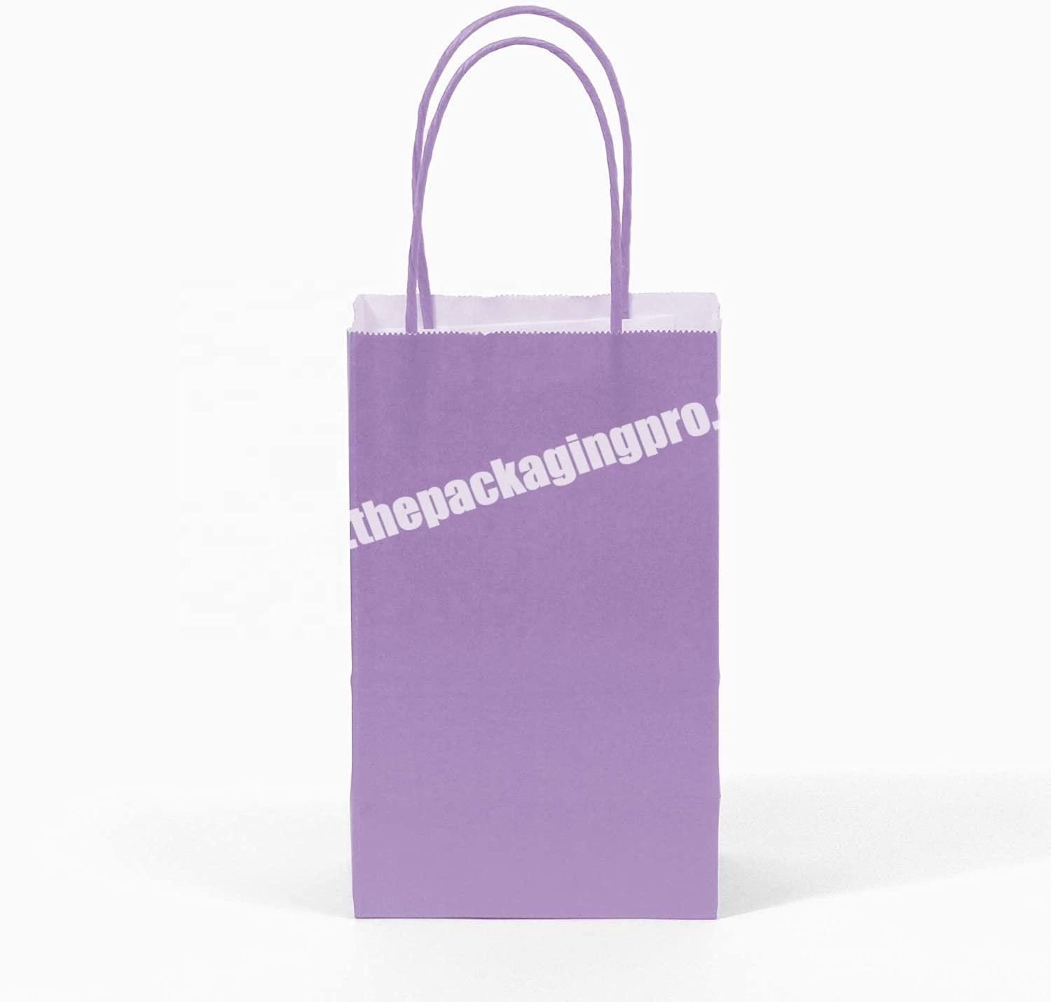 Personalized Biodegradable reusable Paperbags custom wedding birthday Kraft paper gift bag with logo prin