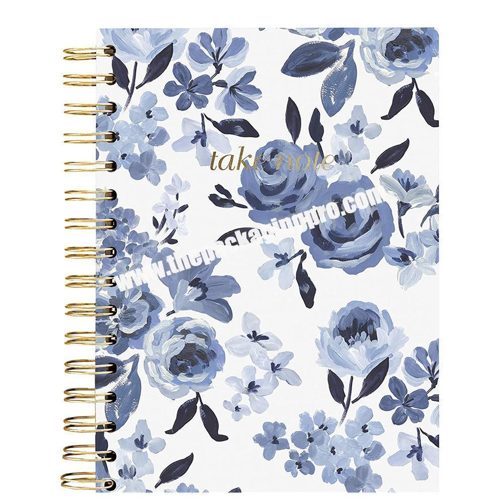 Personalized Cover Glossy Matt Laminated Paper Cardboard Bound Notebook Planner With Big Ring Durable Printed Sketchbook Custom