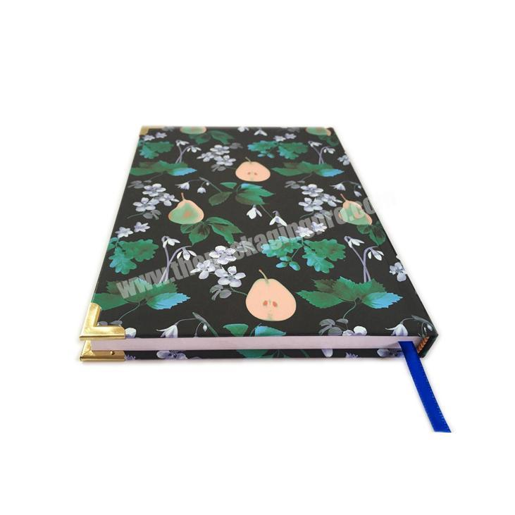 Personalized custom printed made hardcover decorative daily notebook planner journals for women