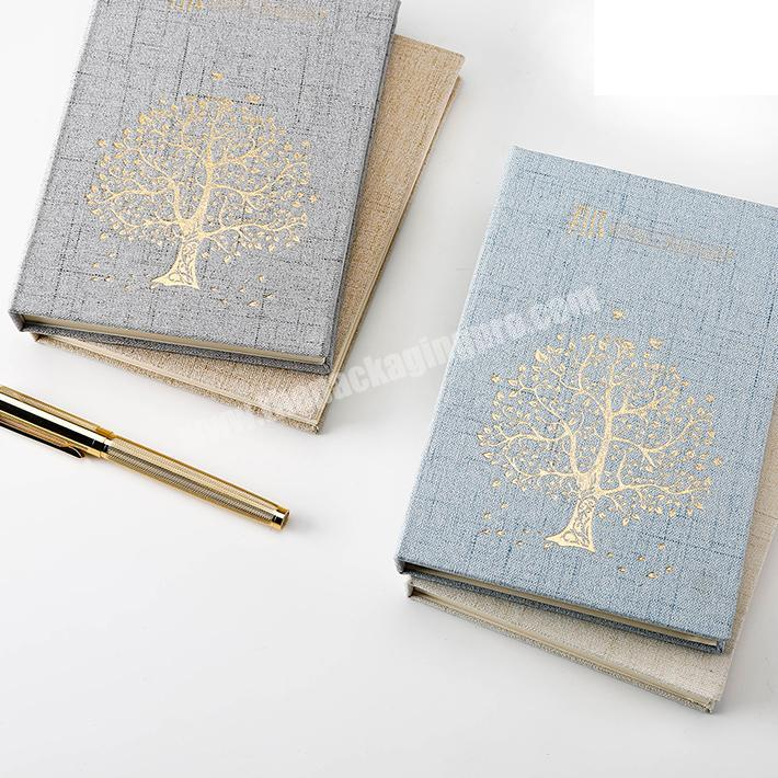 Personalized Customized Cloth Linen Hardcover Notebooks