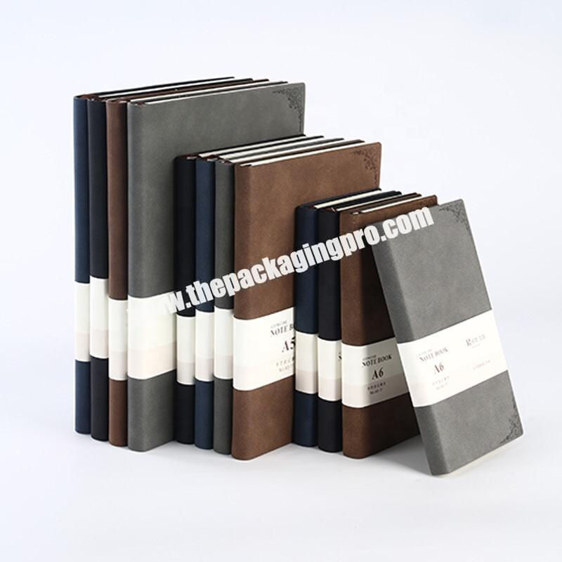 Personalized Design A4 A5 A6 Weekly Agenda Organizer Brown Grey Black Business Diary Journal Hardcover Embossed PU Leather