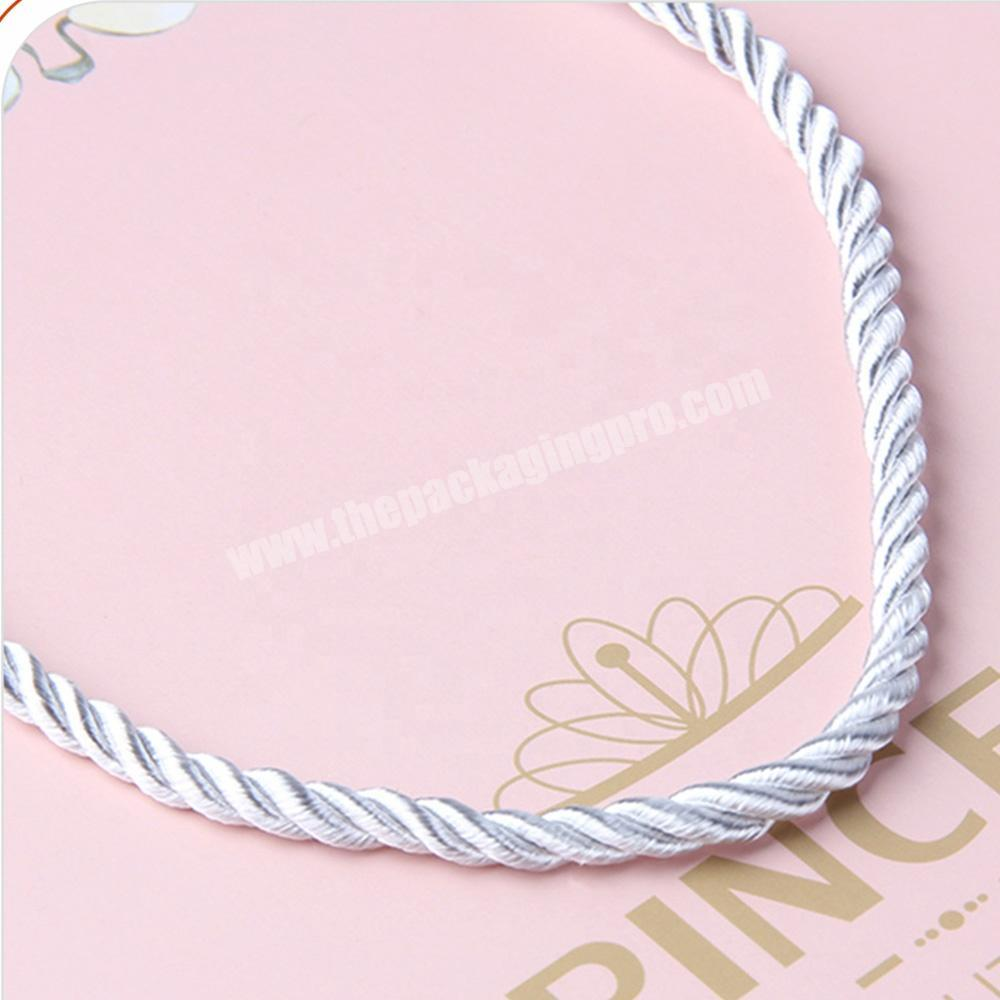 Shop pink jewelry packaging paper bags with logo for gift