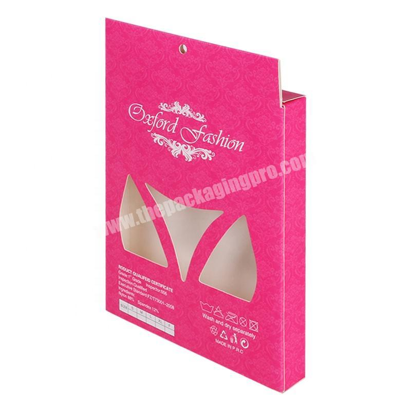 pink packaging paper box for women's underwear lingerie