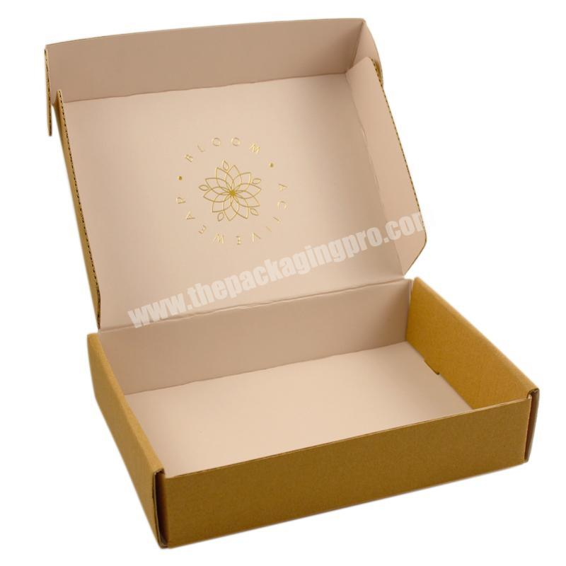 Pink Printed Recycled Cosmetic Packaging Box For Online Shop Shipping Goods