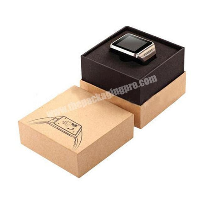 Popular  luxury custom  Rigid paper Watch  Box with custom logo and size