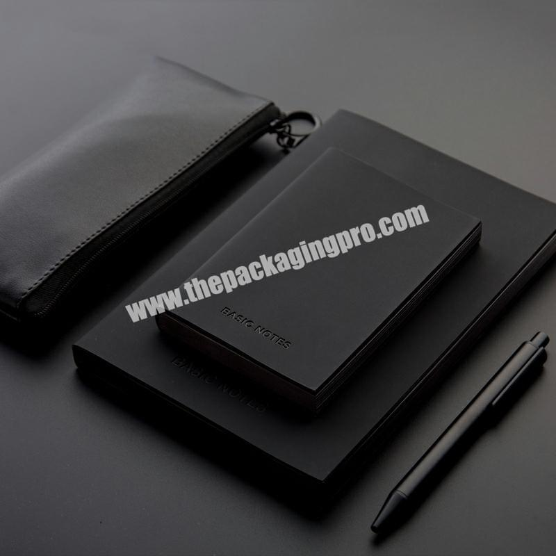 Popular Small Mini Faux PU Leather Genuine Leather Soft Cover Notebook Notepad Logo Customized Emboss Deboss Black Edges Journal