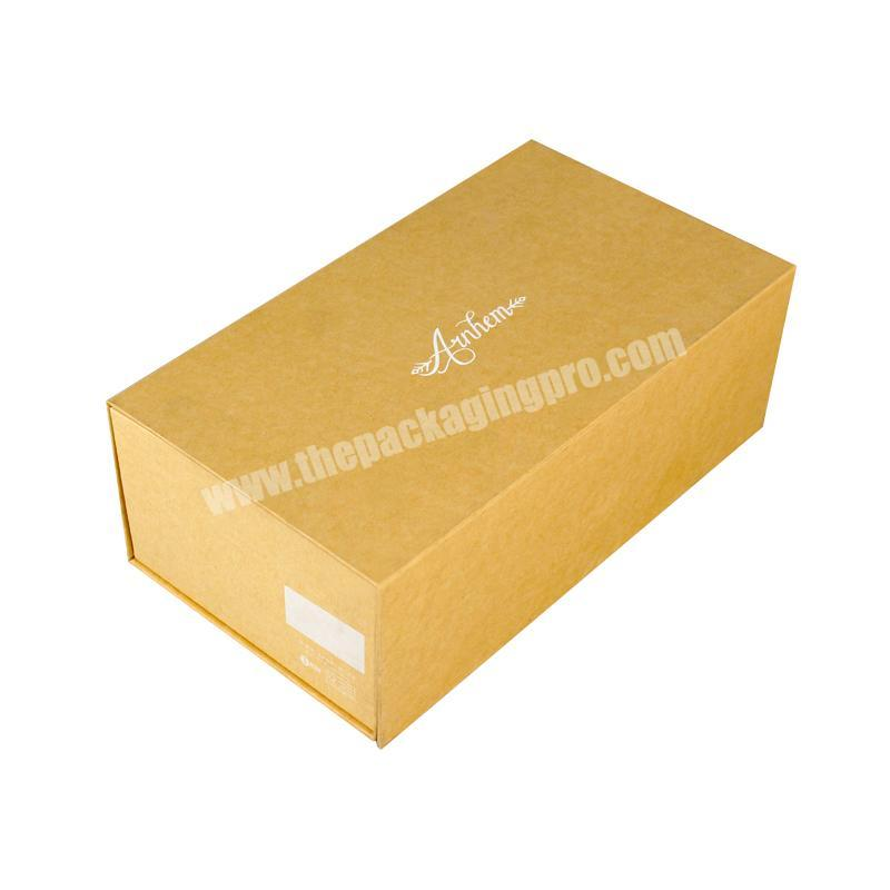 Printed cardboard folding paper carton packaging shoe clothing shipping luxury custom magnetic foldable gift box with