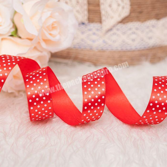 Printed Pattern Satin Ribbon For Christmas Decoration