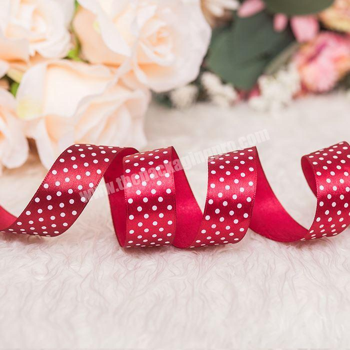 Printed Satin Ribbon Bow Polyester Woven Satin Ribbon