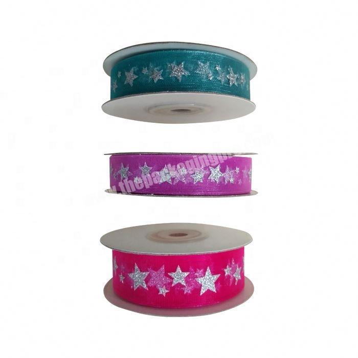 printed satin ribbon custom  silk organza printed ribbon for gift ribbon
