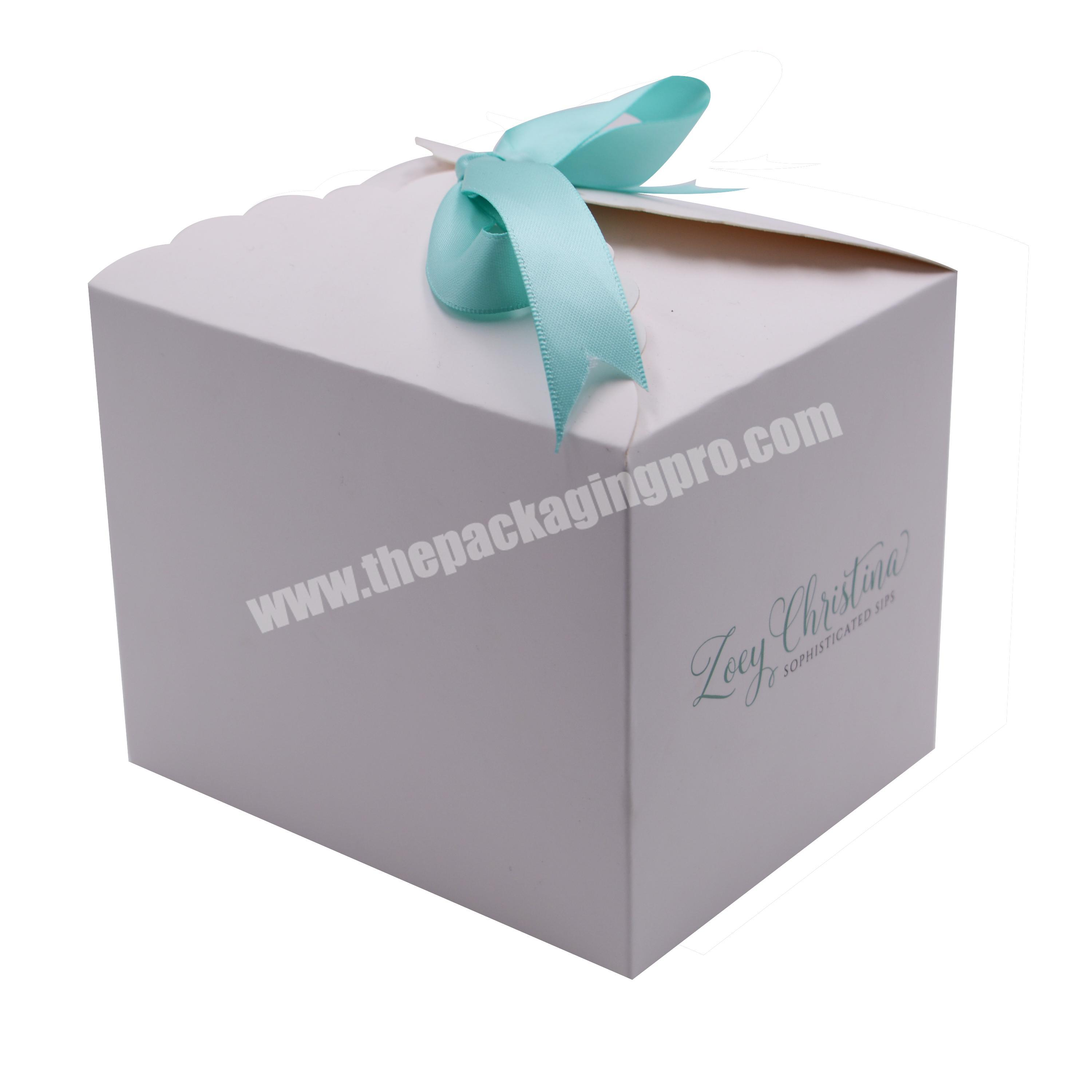 Professional Custom Card Box Cute Bow Packaging For The Cake Box, Chocolate, Coffee Beans,Gift Box For Snacks Beauty Products
