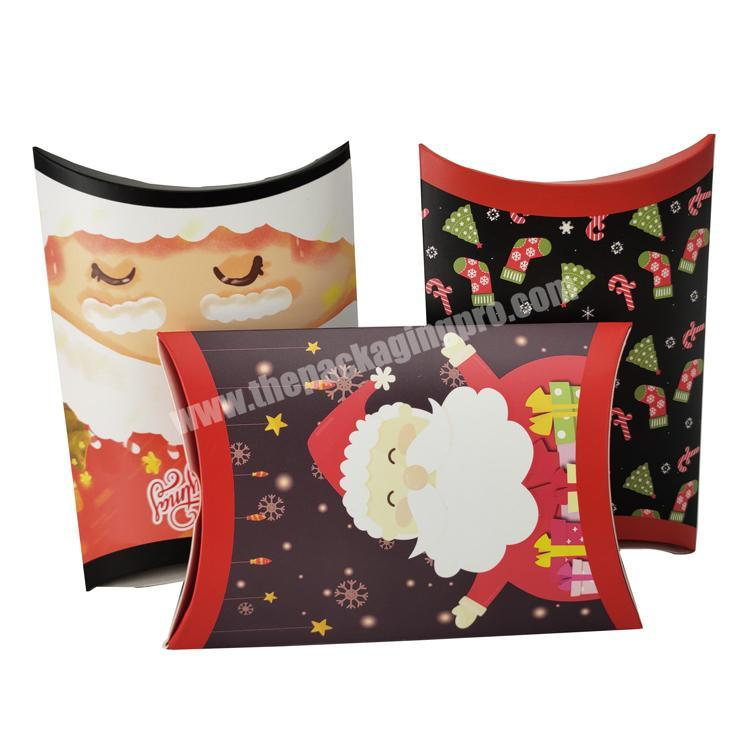 professional custom pillow shape packaging cute christmas ornament christmas gift paper box