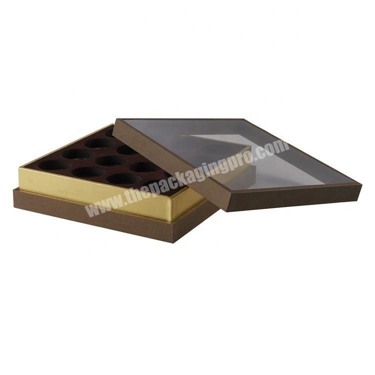 professional food gift packaging box chocolate truffle packaging box