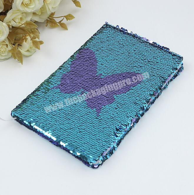 Shop Promotional custom flipped sequins hardcover A5 paper glitter notebook