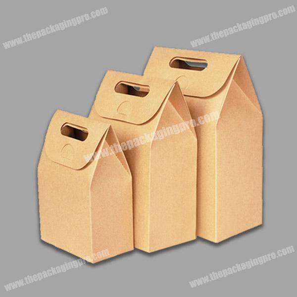 Promotional flat handle kraft paper bag with window