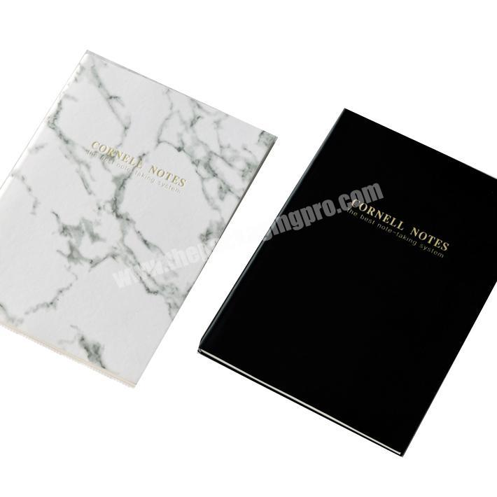 Promotional gold foil paper hardcover notebooks printing wholesale