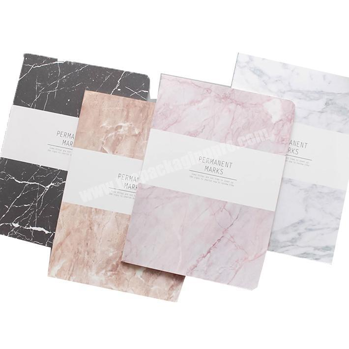Promotional marble printing custom softcover notebook wholesale