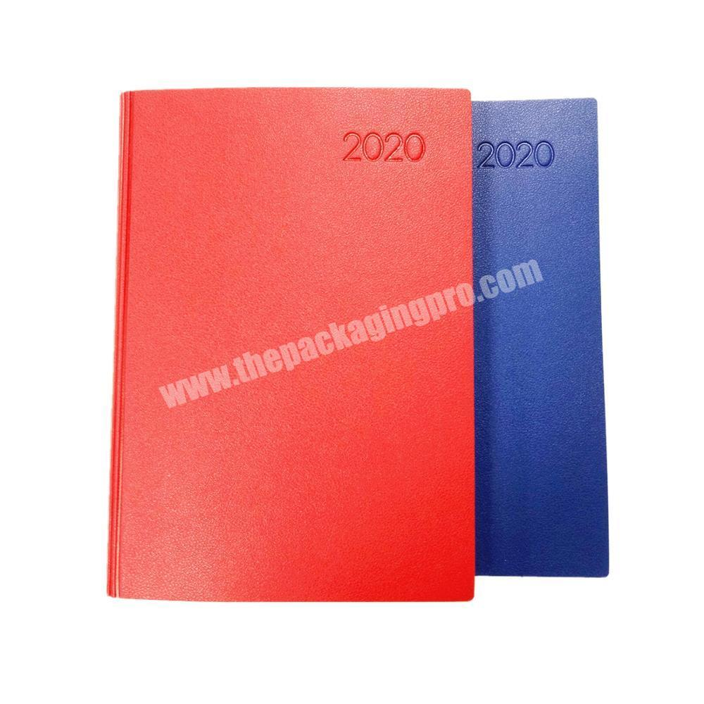 Promotional personalised diary leather cover notebook custom organizer school journal