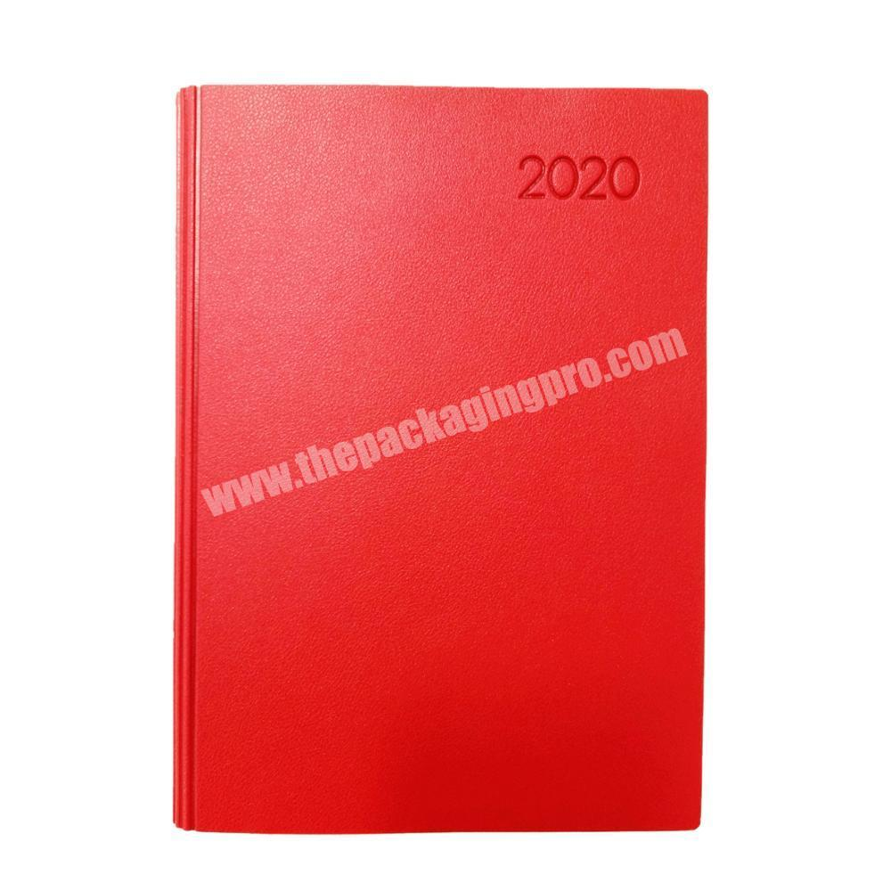 Promotional student diary custom a5 planner embossed logo journal travelers notebook