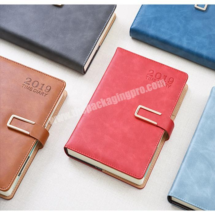 Factory Promotional Student Notebook Custom Diary Personal Leather Planner