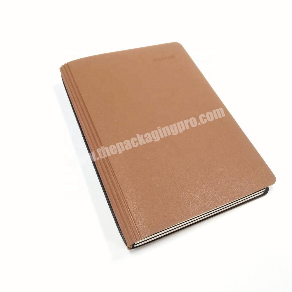 Promotional Writing Notebook Gifts Custom Logo Diary A5 PU Leather Journal