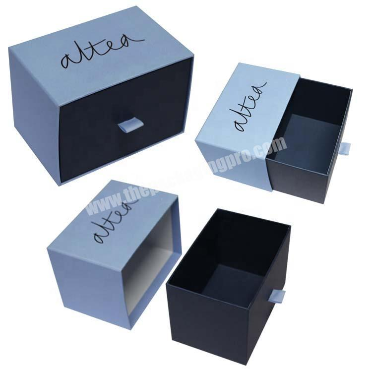 Rectangle Shaped Gift Box Drawer Box Simple Style Paper Packing Box for clothes