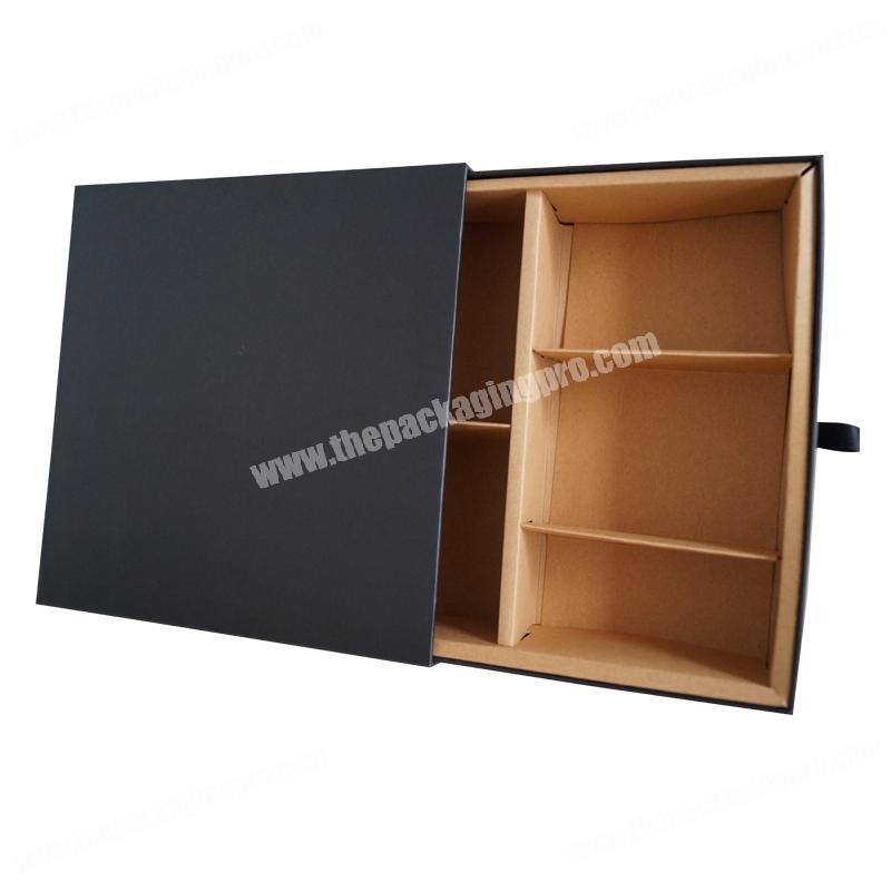 Recyclable Accept Custom Printing Candle Holder Drawer Box with Paper Dividers
