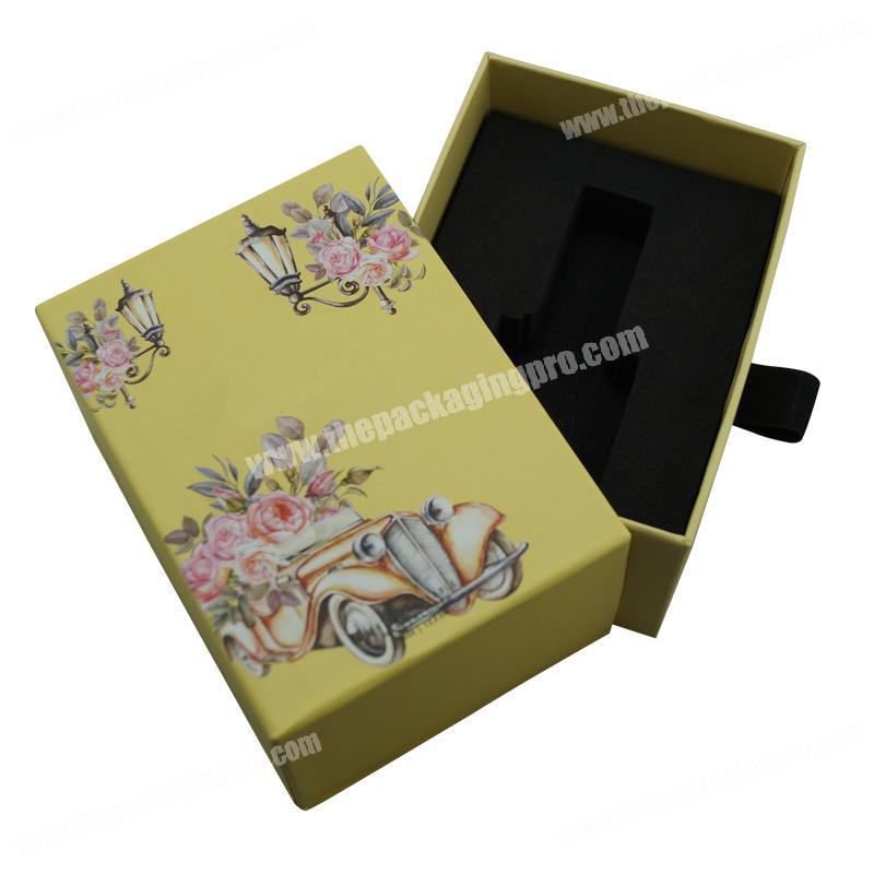 Recyclable Accept Custom Printing Nail Polishing Oil Drawer Box with EVA