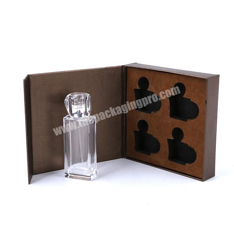 Supplier Recyclable Black Cardboard Beauty Cosmetic Packaging Perfume Gift Box With Inserts